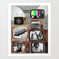 tv Art Prints featuring Television by Logan Amick