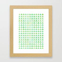 evergreen geometric pattern Framed Art Print