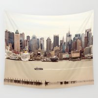nyc Wall Tapestries featuring NYC by Enkel Dika
