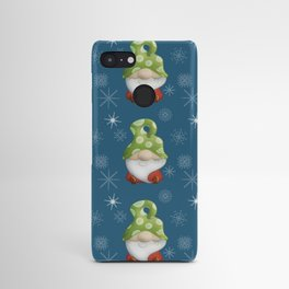 Blue Winter Gnome Pattern Android Case