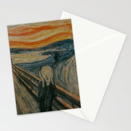 The Scream Lovingly Knitted by Granny E-Munch Stationery Cards