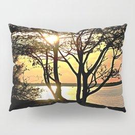 Tree Silhouette At Sunset Pillow Sham