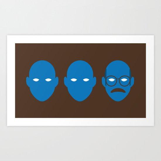 Blue Man Trio Art Print