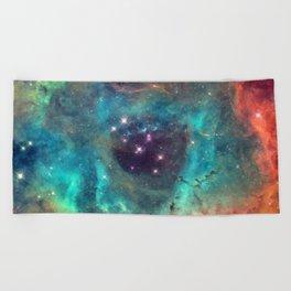 Colorful Nebula Galaxy Beach Towel
