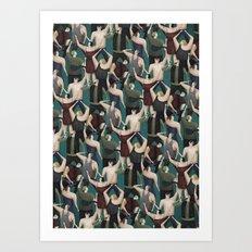 Concert pattern Art Print