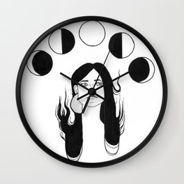 Moon Daze Wall Clock