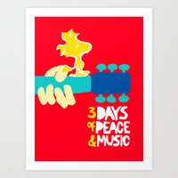 woodstock Art Prints featuring Woodstock by NoHo