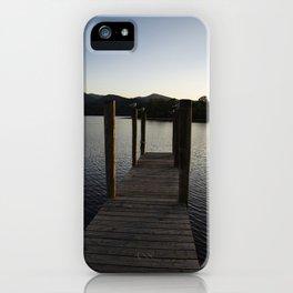 derwentwater jetty sunset iPhone Case