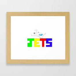JETS Framed Art Print