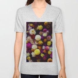 Pop Color Flowers (Color) Unisex V-Neck