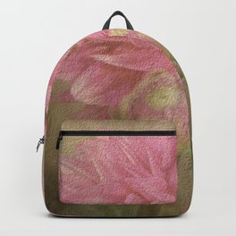 Soft Graceful Pink Painted Dahlia Backpack
