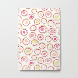 Watercolour Circles #2 | Sorbet Palette Metal Print