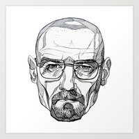 heisenberg Art Prints featuring Heisenberg by Christina Patti