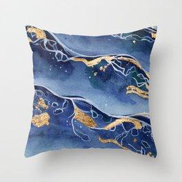 Sea & Gold Throw Pillow