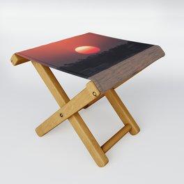 Really red sun Folding Stool