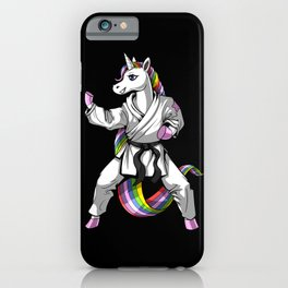 Unicorn Girl Karate iPhone Case