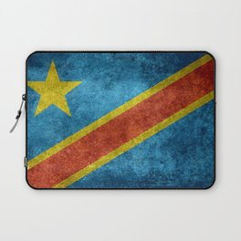 National flag of the Democratic Republic of the Congo, Vintage version (to scale) Laptop Sleeve