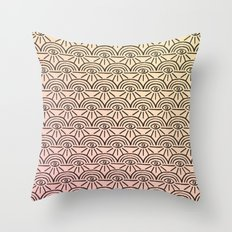 Rainbow Eyes Pink and Yellow Throw Pillow