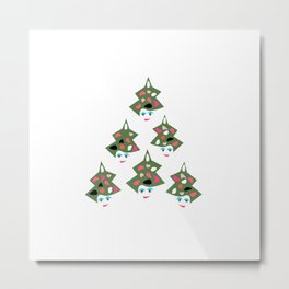 Retro Christmas Metal Print
