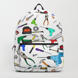 Fun Cartoon Tools Hardware Illustration Pattern Backpack