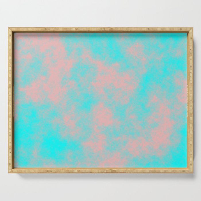 Cotton Candy Clouds - Pink & Blue Serving Tray