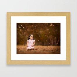 Charli Leaves Framed Art Print