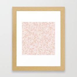 Pale Dogwood Pixels Framed Art Print