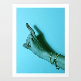 Bloody Finger Art Print