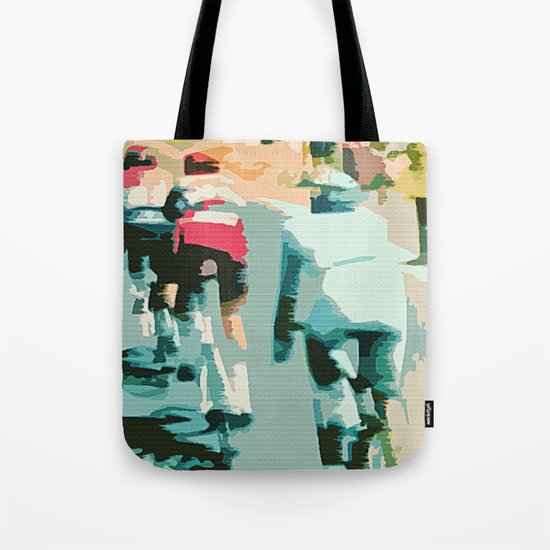 tete de la course   Tote Bag