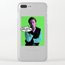 What Would Sebastian Stan Do? Clear iPhone Case