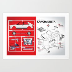 Lancia Delta History Model Kit in the WRC Art Print