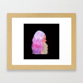 Pink Hair! Framed Art Print