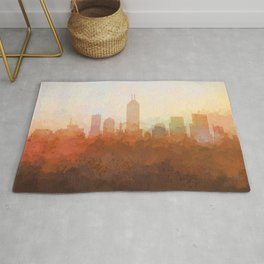 Indianapolis Skyline - In the Clouds Rug