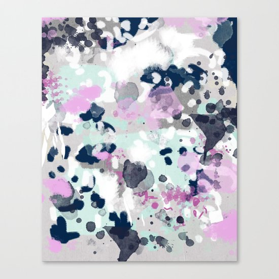 Elsie - modern abstract painting trendy home dorm college decor canvas art Canvas Print