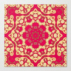 Cassy in Ruby Coral Canvas Print