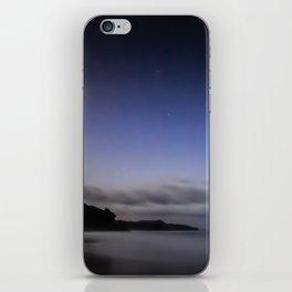 Moon over Ana-ananui beach iPhone Skin