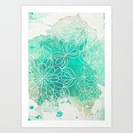 Mandala Inked Art Print