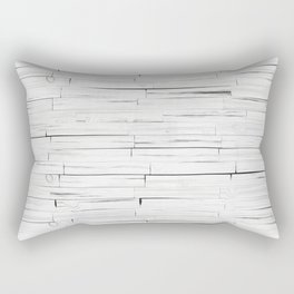 White Wooden Planks Wall Rectangular Pillow