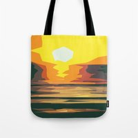 sunrise Tote Bags featuring Sunrise by Nuam