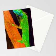 Nitelizard Escaping Fire Stationery Cards