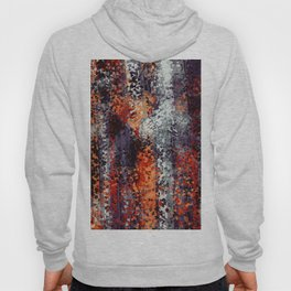 psychedelic geometric polygon shape pattern abstract in black orange brown red Hoody