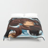 legend of korra Duvet Covers featuring Korra by BubbleJuiceBox