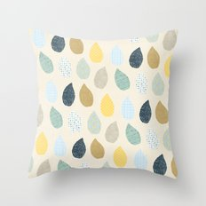rain drops pattern Throw Pillow