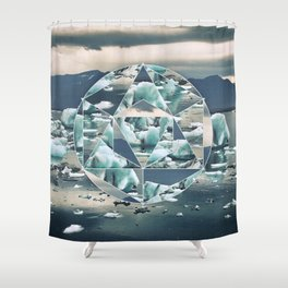 Geometric Icebergs Abstract Shower Curtain