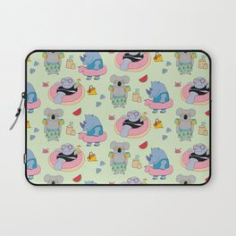 Beach animals - green Laptop Sleeve