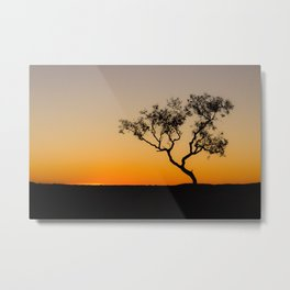last light silhouete Metal Print