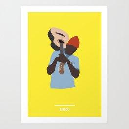 ZISSOU ( The Life Aquatic ) Art Print
