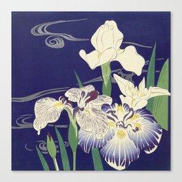 Irises byTsukioka Kôgyo Japanese Woodcut Canvas Print