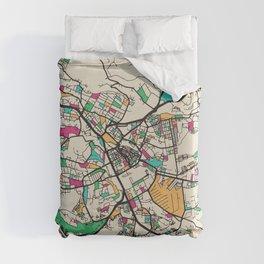 Colorful City Maps: Nairobi, Kenya Duvet Cover