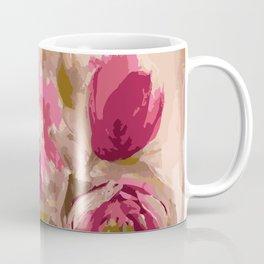 Painterly khaki and pink florals Coffee Mug
